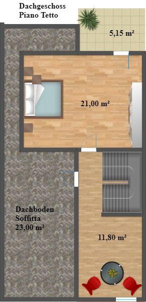 Bolzano via cavour quadrilocale duplex con balcone e for Piani duplex con garage in mezzo